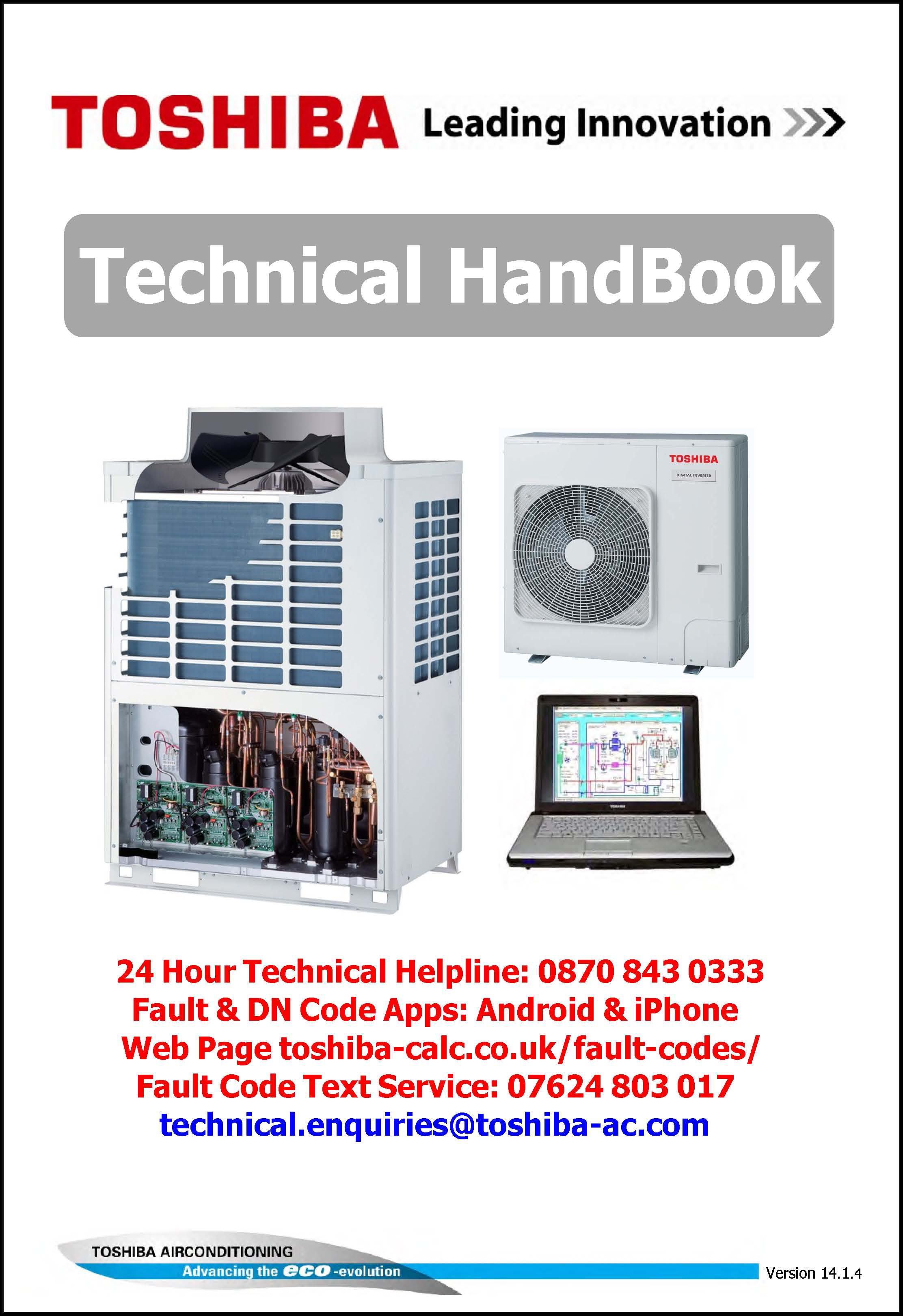 toshiba publishes engineers handbook as part of industry training rh toshiba aircon co uk toshiba service manual pdf Hunting Guide Services