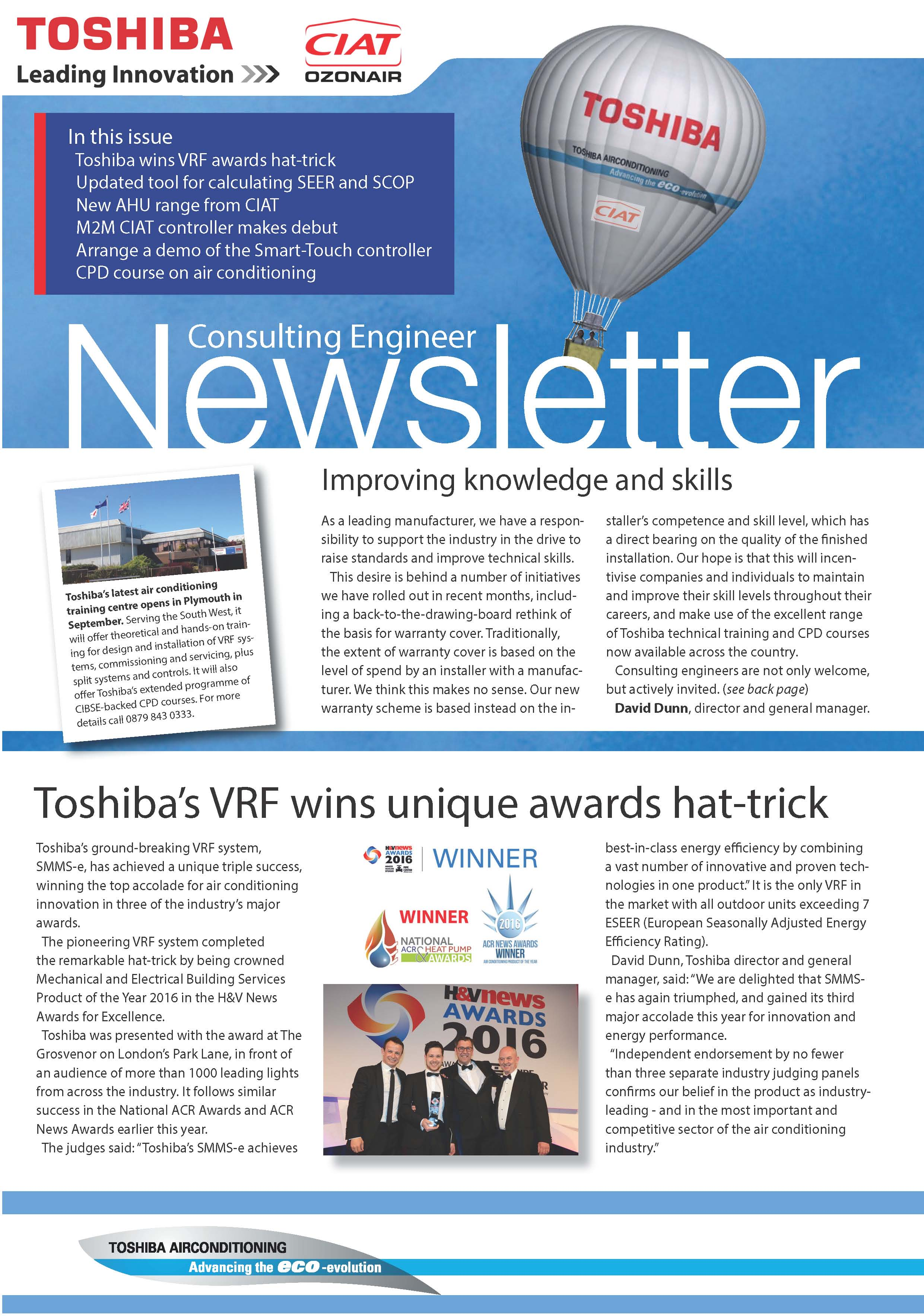 Newsletter for Consulting and Design Engineers - Toshiba Air